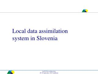 Local data assimilation system in Slovenia