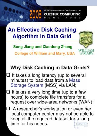 An Effective Disk Caching Algorithm in Data Grid