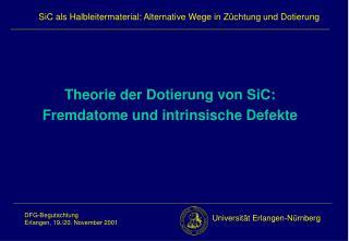 Theorie der Dotierung von SiC: Fremdatome und intrinsische Defekte
