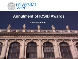 Annulment of ICSID Awards