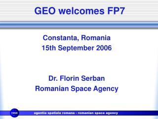 GEO welcomes FP7