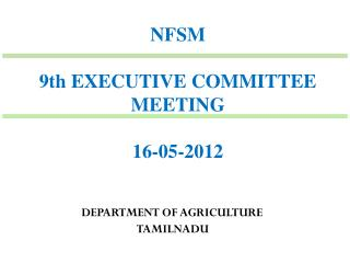 NFSM 9th EXECUTIVE COMMITTEE MEETING  16-05-2012