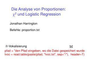 c 2  und Logistic Regression