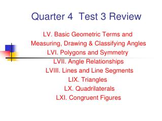 Quarter 4  Test 3 Review