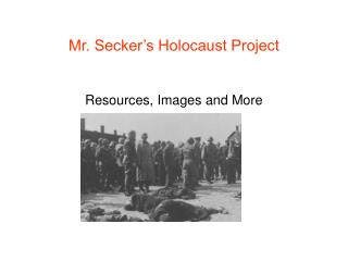 Mr. Secker's Holocaust Project