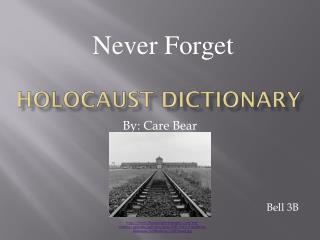 Holocaust Dictionary