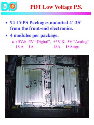PDT Low Voltage P.S.