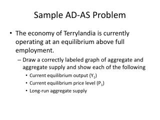 Sample AD-AS Problem