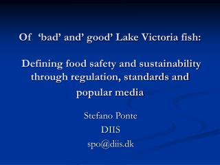 Stefano Ponte DIIS spo@diis.dk