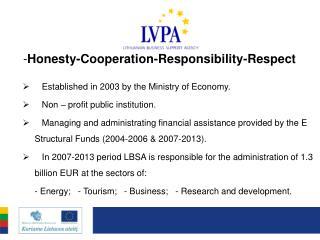 - Honesty-Cooperation-Responsibility-Respect