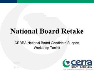 National Board Retake