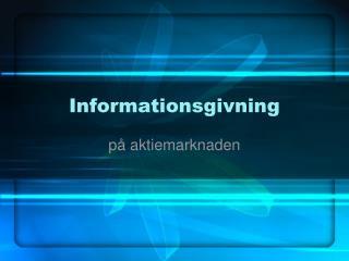 Informationsgivning