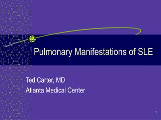 Pulmonary Manifestations of SLE