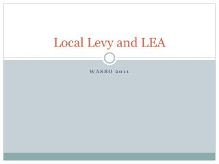 Local Levy and LEA