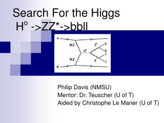 Search For the Higgs  H o  ->ZZ*->bbll