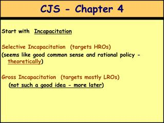 CJS - Chapter 4