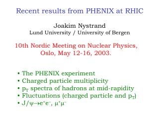 Recent results from PHENIX at RHIC