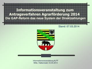 Informationsveranstaltung ALFF Mitte, Halberstadt, 03.04.2014