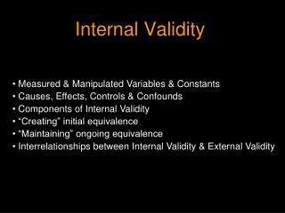 Internal Validity