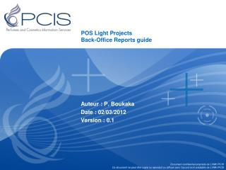 POS Light Projects Back-Office Reports guide