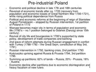 Pre-industrial Poland