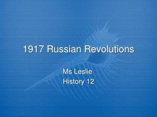 1917 Russian Revolutions