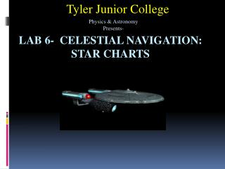 Lab 6-  Celestial Navigation: Star Charts