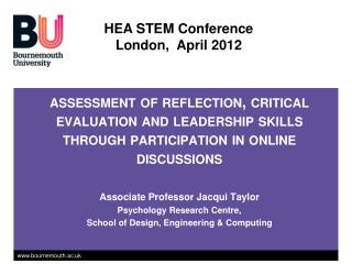 HEA STEM Conference London,  April 2012