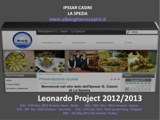 Leonardo Project 2012/2013