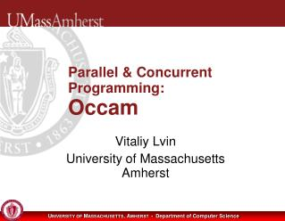 Parallel & Concurrent Programming: Occam