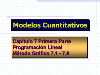 Modelos Cuantitativos