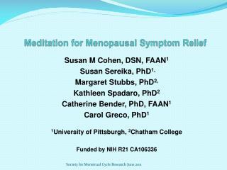 Meditation for Menopausal Symptom Relief