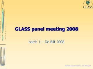 GLASS panel meeting 2008