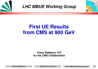 LHC MBUE Working Group