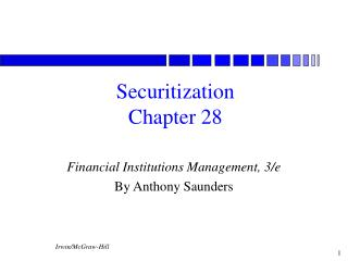Securitization Chapter 28