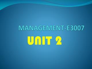 MANAGEMENT-E3007