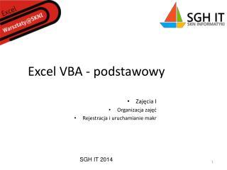 Excel VBA - podstawowy