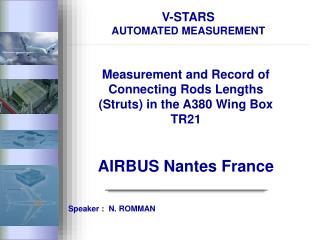 V-STARS AUTOMATED MEASUREMENT