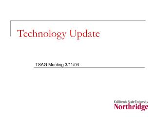 Technology Update