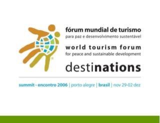 FÓRUM MUNDIAL DE TURISMO para paz e desenvolvimento sustentável