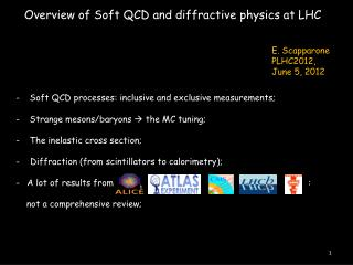 Overview of Soft QCD and diffractive physics at LHC