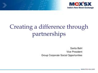 Creating a difference through partnerships