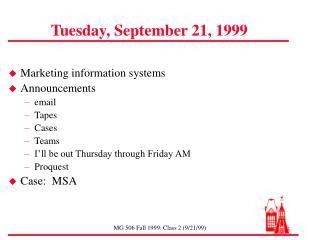 Tuesday, September 21, 1999