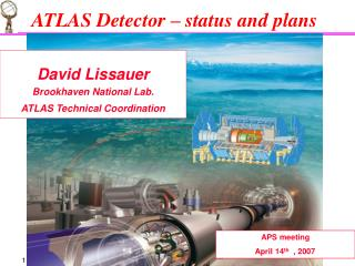 ATLAS Detector – status and plans