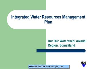 Integrated Water Resources Management Plan