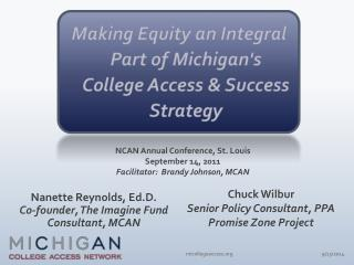 Making Equity an Integral Part of Michigan's College Access & Success Strategy