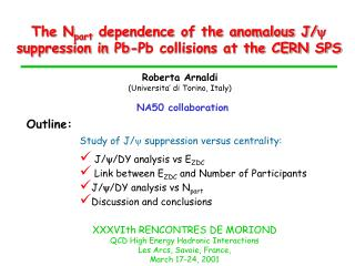 The N part  dependence of the anomalous J/    suppression in Pb-Pb collisions at the CERN SPS