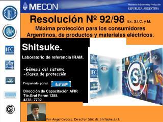 Resolución Nº 92/98  Ex. S.I.C. y M.