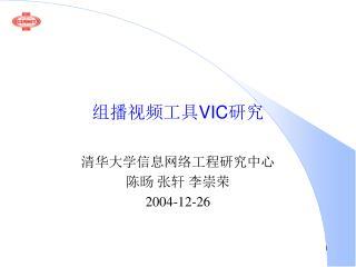 组播视频工具 VIC 研究