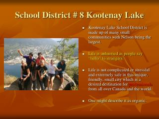 School District # 8 Kootenay Lake